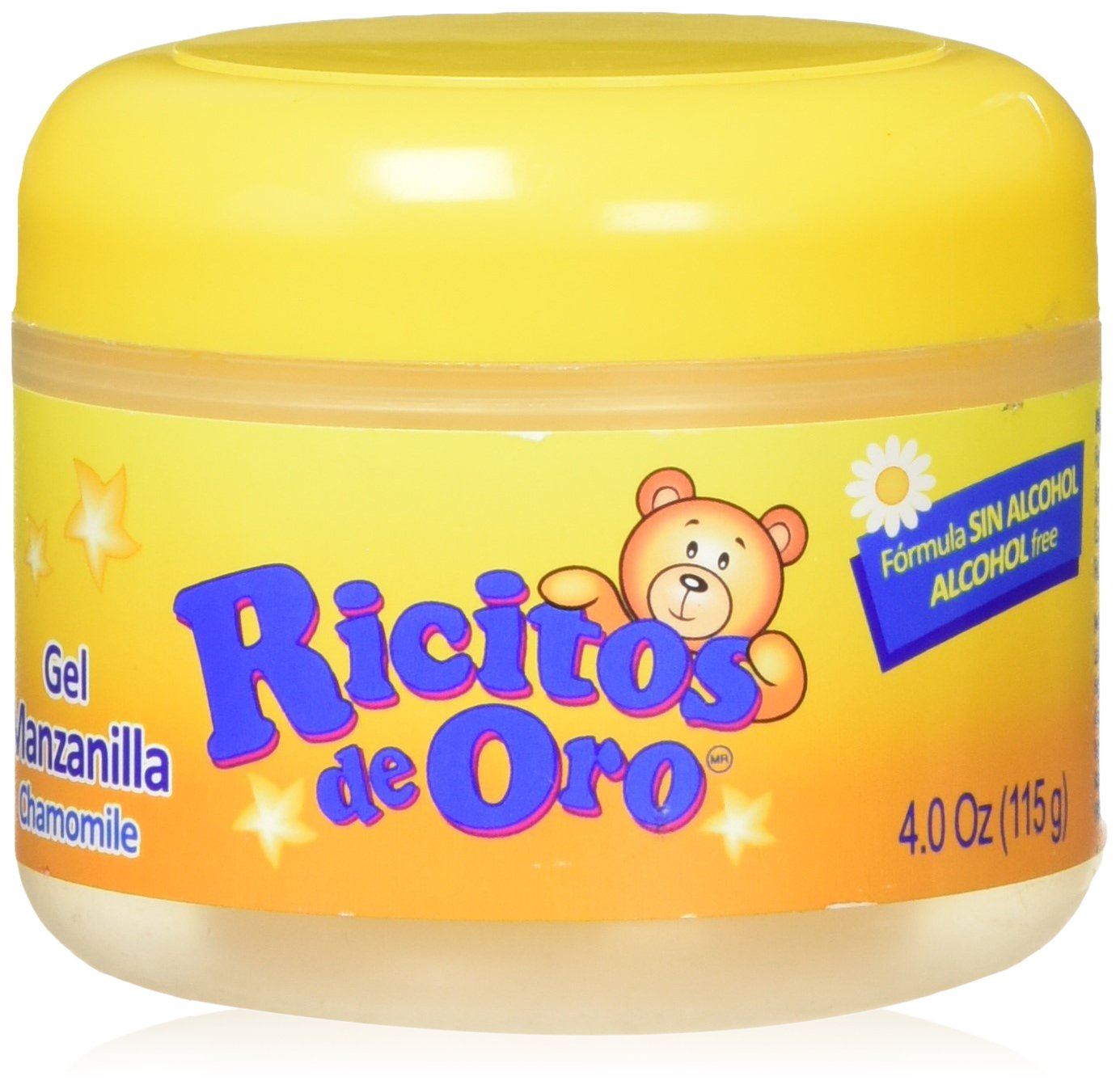 Manzanilla Ricitos de Hair Gel  Alcohol-Free Hair Care Gel for Daily Use, Gentle Gel with Chamomile Extract; 4.0 Ounces