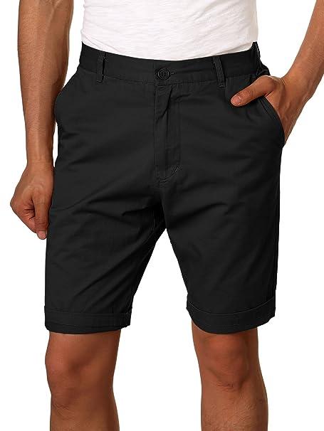 0112d1559060 HEMOON Herren Cuba Shorts Bermuda Sommer Kurze Hose Chino Basic  Amazon.de   Bekleidung