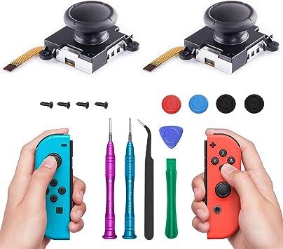 COBUY - Juego de 2 palancas de Repuesto para Mando Nintendo Switch Joy con Kit de Herramientas de reparación para Interruptor Joy-Cons con Destornilladores y Pinzas: Amazon.es: Electrónica