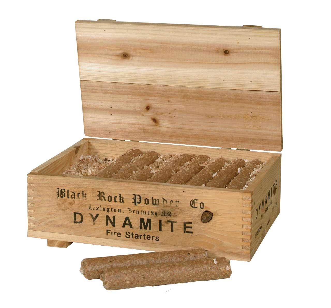 Kamin und Grillanzünder in Dynamitstangenform in dekorativer Holzkiste Holzkiste Holzkiste b69e48