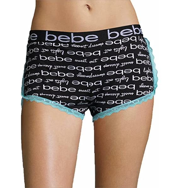 76060fdb302f bebe Womens Lounge Sleep Pajama Shorts with Elastic Waistband at ...