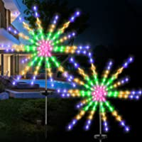 Solar Firework Lights, 112 LED Decorative Star Lights with Remote Control,Perkisboby Solar Flowers Lights,Outdoor Garden…