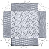 Lulando Garniture pour parc bébé Tour de parc et tapis de protection avec rembourrage latéral (75x 100cm ou 100x 100cm) - Souple, chaud et moelleux