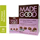 MadeGood Soft Baked Double Chocolate Mini Cookies, 6 boxes (30 ct); Nut-Free, Gluten Free, Allergy Friendly, Certified Organic, Vegan, Non-GMO and Contain Nutrients from a Full Serving of Vegetables