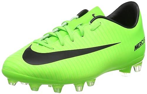 98a7deccffe Nike Mercurial Vapor XI AG, Botas de fútbol Unisex niños, Verde (Electric  Green/Black-Flash Lime-White), 33.5 EU: Amazon.es: Zapatos y complementos