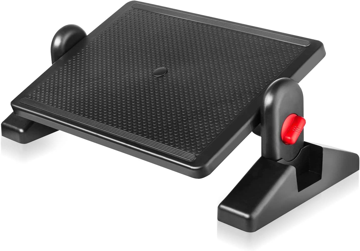 """Under Desk Foot Rest, Black Footstool & Office Ergonomic Footrest, Adjustable Angle & 2 Different Height Positions 16.3"""" X 11.8"""" - Great for Home & Work"""