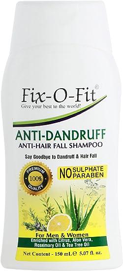 Fix-O-Fit Champú anticaspa y anti caída de pelo, sin pintura, sin sulfato, 150 ml (Pack de 6): Amazon.es: Belleza