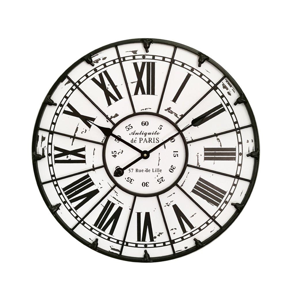 ウォールクロック、家の壁の装飾、23インチ(60cm) リビングルームの寝室の木製時計、ヴィンテージ装飾ミュート時計。 B07D5WNBQM