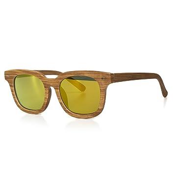 Sonnenbrille Damen oder Herren Unisex Motorradbrille Retro Verspiegelt UV400 CAT 3 CE-Norm schwarz weiß blau gold von EYES ON ME, Farbe:Braun Gold Braun Getönt