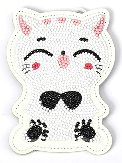 ASKONG - Monedero para niños 5D con diseño de Gato Blanco ...
