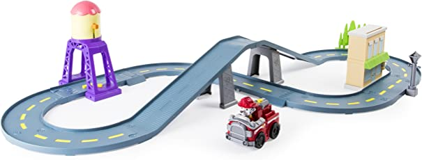 Nickelodeon Paw Patrol Roll Patrol – Marshall's Town Rescue Track Set with Exclusive Motorized Vehicle with Lights and Sounds