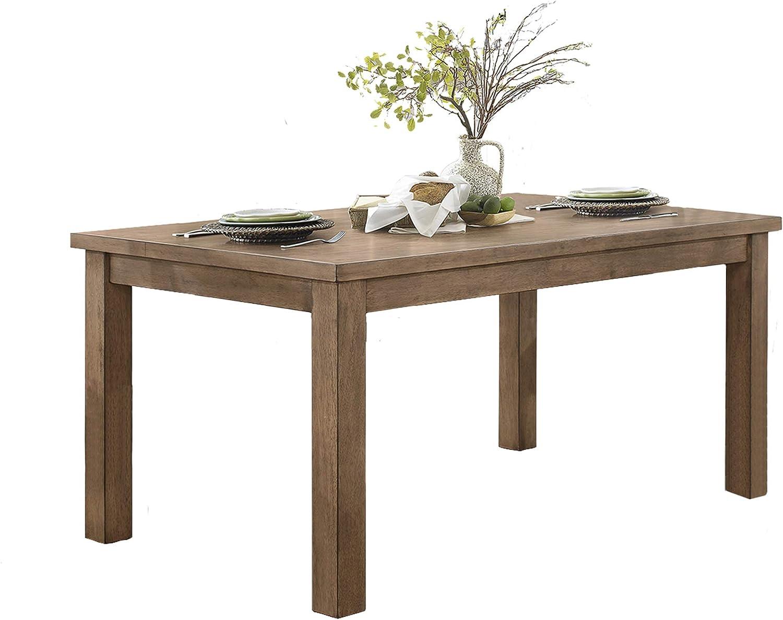 "Homelegance Janina 66"" x 38"" Dining Table, Natural"