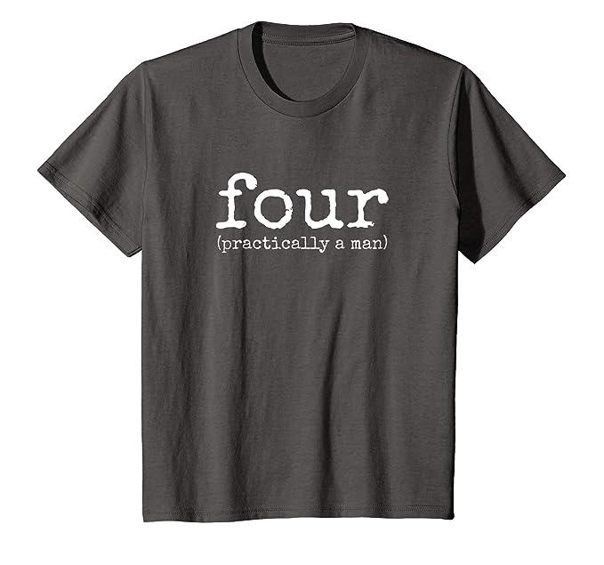 Kids 4th Birthday Shirt For Boys