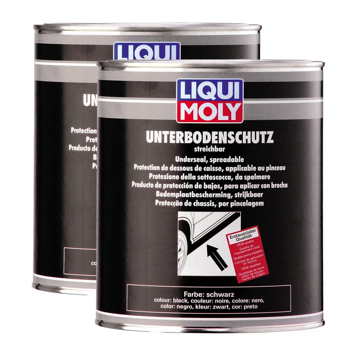 2X LIQUI Moly 6119 Unterbodenschutz streichbar schwarz Korrosionsschutz Dose 2kg