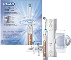 Oral-B Genius Pro 8000 Electronic Power Rechargeable Battery Electric Toothbrush with Bluetooth Connectivity, Rose Gold,...