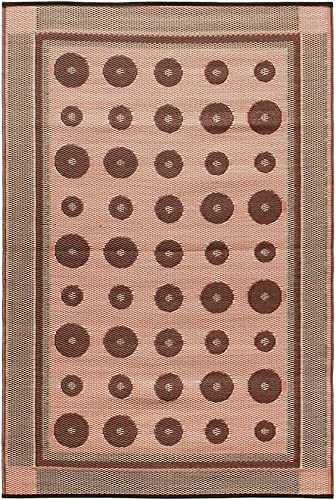 Achla Designs Dots Indoor Outdoor Floor Mat, 4 x 6-ft, Spice