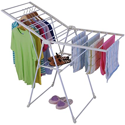 24f4b20d0ef Image Unavailable. Image not available for. Color  Foldable Clothes Laundry  Drying Rack Dryer ...