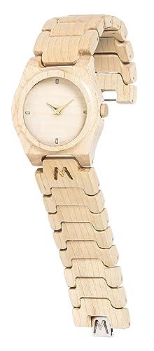 MATOA Moyo - Reloj de madera hecho a mano | Hecho a mano con madera tropical recuperada ...
