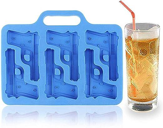 Azul hielo Freeze Mold tray-ice cubo Entramado silicona -- Pack de 3: Amazon.es: Hogar