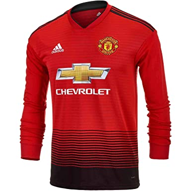on sale ba3ba 46a1a Amazon.com: adidas Junior Manchester United Home L/S Jersey ...