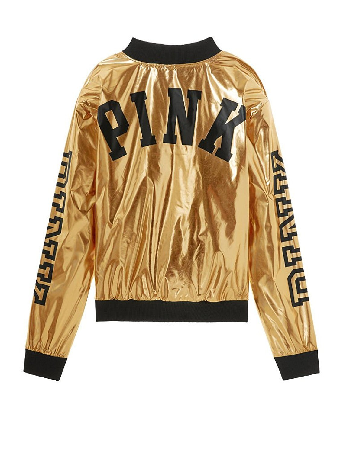 Victoria's Secret, Pink New! Metallic Bomber Jacket Metallic (X-Small) by Victoria's Secret,