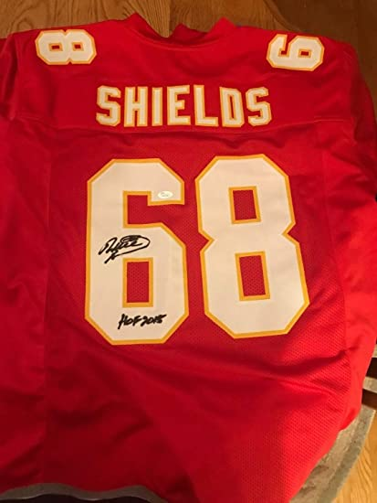 f2183bc2fbb Will Shields Authentic Autographed Signed Kansas City Chiefs Jersey  Memorabilia - JSA Authentic