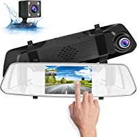 Suaoki 1080p Full-HD Dash Cam And Rear View Camera With Loop Recording