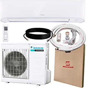 DAIKIN 17 SEER 9,000 BTU Wall-Mounted Ductless Mini-Split A/C Heat Pump System Maxwell 15-ft Installation Kit (230V) 10 Year Limited Warranty (9,000 BTU_208-230V)
