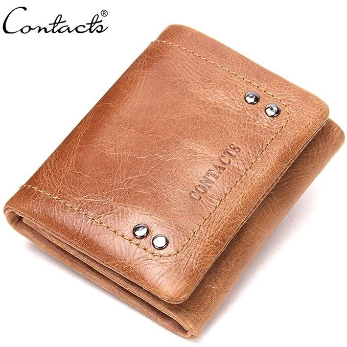 Bolso de la tarjeta de cuero de la manera de la cartera de los hombres bolso