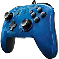 PDP Nintendo Switch Blue Camo Faceoff Wired Pro Controller, 500-119 - Nintendo Switch