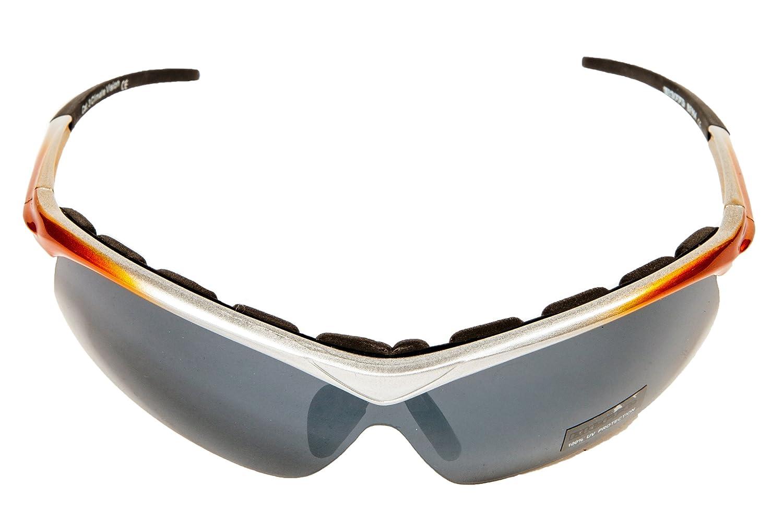 Occhiali Bieffe adatti per ciclismo e altri sport grigio arancio