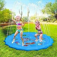 Splash Pad, Spuitmat, 170 cm, speelmat, sprinkler waterspeelmat, Splash Play mat, outdoor tuin water speelmat voor baby…