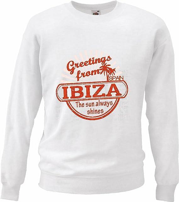 Sudaderas Suéter Ibiza ESPAÑA New York América California EE.UU. Ruta 66 Camisa Motorista de la Motocicleta de New York NY Libertad DE LOS Estados Unidos DE ...