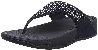 FitFlop Novy, Damen Sandalen, Black (Black 001), 42 EU-8 UK/10 US