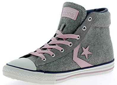 ba2c401408c3 Converse Trainers Shoes Kids Star Player Ev Mid Wool Grey  38 -uk 5 ...