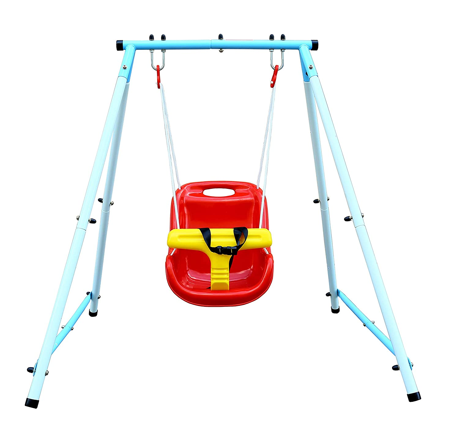 Northern Stone Indoor & Outdoor Steel Frame Toddler Swing Set with Safety Seat Northern Stone Limited