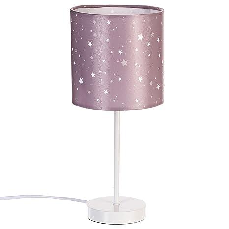 Atmosphera - Lámpara de pie, pantalla con estrellas estampadas, color marrón