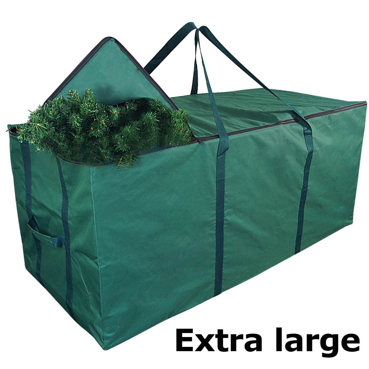 MelonBoat Waterproof Oxford Cloth Green Christmas Tree Storage Bag, Extra Large for 5'-9' Artificial Trees