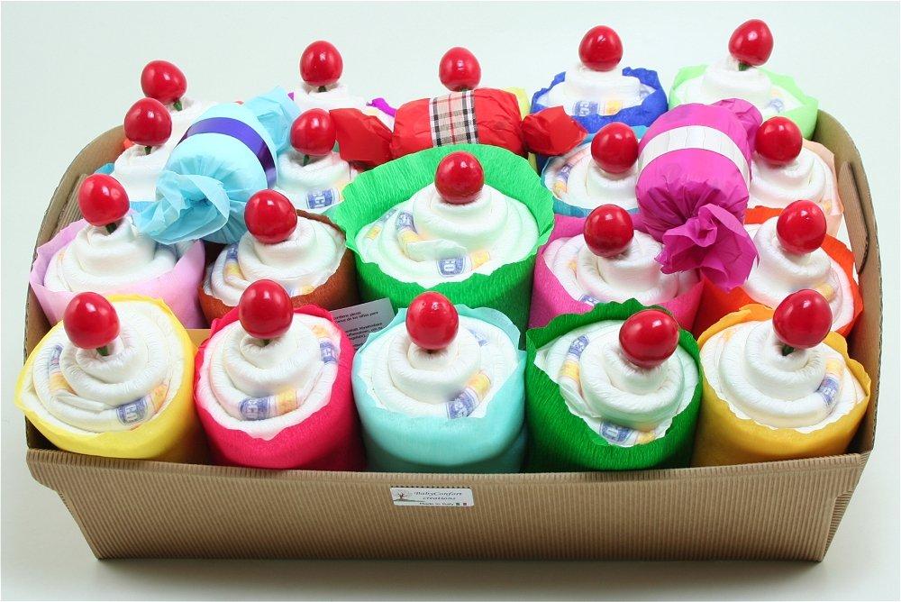 Windeltorte Cupcake Babyshower Windeln Chicco