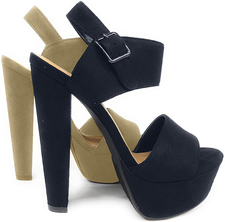 Speed Limit 98 Womens Key Open Toe Ankle Strap Platform Chunky Block Heel Sandal