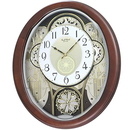 RELOJ PARED KARAKURI CON 30 MELODIAS, ESFERA MOVIBLE. CONTROL DE VOLUMEN. 43CM X 53 CM.: Amazon.es: Relojes