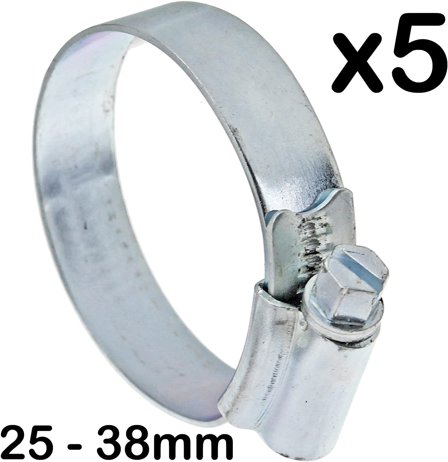 SPARES2GO Worm Drive Jubilee Steel Pipe Clip Clamp Small Medium 32-44mm