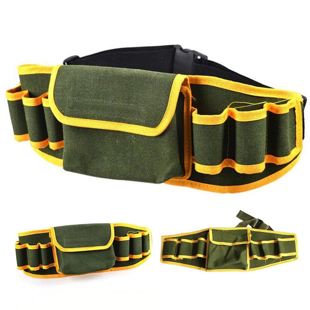 Hinmay Bolsa multifunció n de herramientas de lienzo para mecá nicos y cinturones, kit de herramientas de trabajo