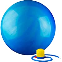 Black Mountain Products 2000lbs Static Strength Multi Colored Stability Ball