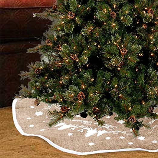 New_Soul Falda de Yute para árbol de Navidad con la Palabra «Merry ...