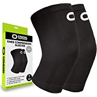 Knee Brace Compression Sleeve (1 Pair) - Best Knee Support Braces for Meniscus Tear, Arthritis, Joint Pain Relief…