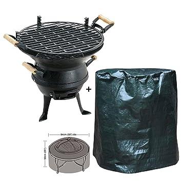 Attrayant En Fonte Extérieur Brasero Barbecue à Charbon Avec Foyer Coque Pour Jardin  Terrasse Camping Barbecue Party Photos