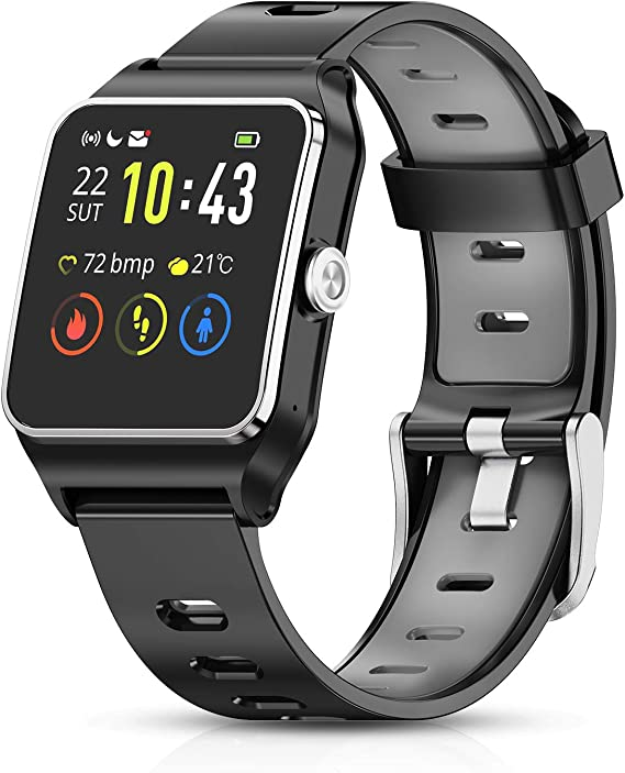 HolyHigh Smart Watches GPS Sports Watch 17 Sports Modes Waterproof Activity Trackers Smartwatch with Pedometer Heart Rate Sleep Monitor Message ...