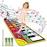 Magicfun Kids Musical Mat, Musical Piano Mat 8 Instrument Sounds 5 Play Modes with 3 AA Batteries and 1 Screwdriver…
