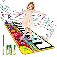 Magicfun Kids Musical Mat, Musical Piano Mat 8 Instrument Sounds 5 Play Modes with...